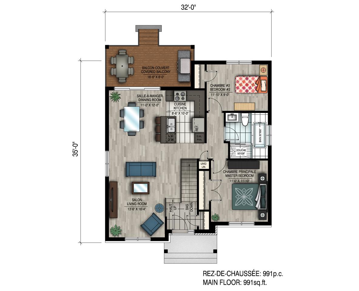 Maison neuve par habitations jlc jacinthe - Plan de maison original ...